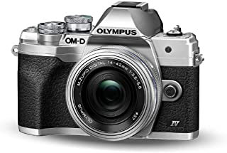 Olympus OM-D E-M10 Mark IV Micro Four Thirds System Camera Kit, 20 MP sensor, electronic viewfinder, 4K video, powerful A...