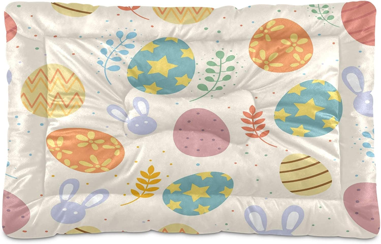 KEEPREAL Easter Mail order Egg Rabbit Dog Bed low-pricing Rectangle Cat Comfortabl