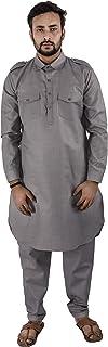 Maharaja Men's Cotton Blend Pathani Suit for Men