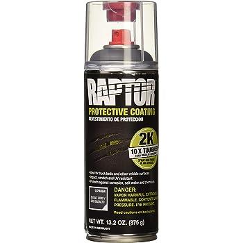 RAPTOR Basalt Gray UP4884 Bedliner 13.02 Oz 2K Aerosol, 7d-3 Cubic_Meters