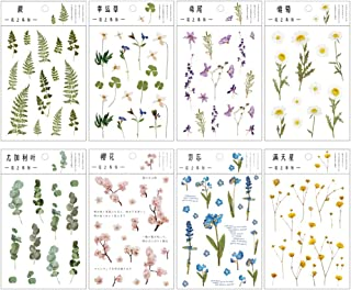 Migimi Autocollants Stickers Scrapbooking, Autocollants de Fleur 8 Pièce Scrapbooking Stickers Fleurs Journal Stickers, po...