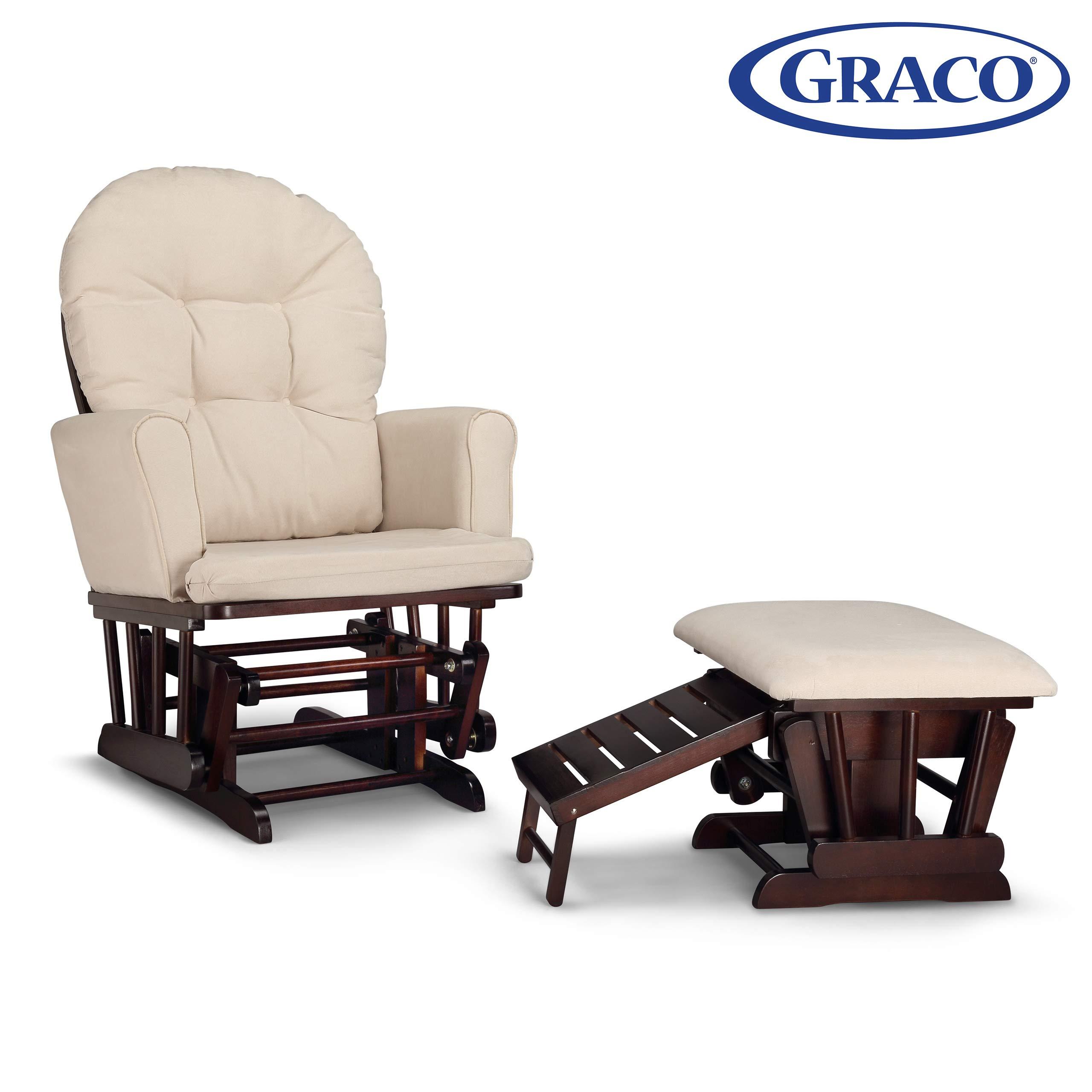 Semi Upholstered Nursing Espresso Cleanable Upholstered