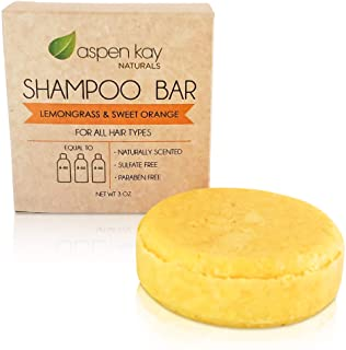 Solid Shampoo Bar, Made With Natural & Organic Ingredients, Sulfate-Free, Cruelty-Free & Vegan, All Hair Types, 3 Ounce Ba...