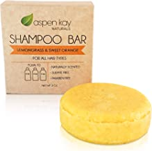 Solid Shampoo Bar, Made With Natural & Organic Ingredients, Sulfate-Free, Cruelty-Free & Vegan, All Hair Types, 3 Ounce Bar… (SHAMPOO CITRUS 1 PACK)