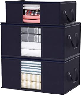 Home Store India Clothes Storage Bag, 3 Pcs Closet Organizer and Storage Foldable Clothing Storage Bag for Clothes, Blanke...