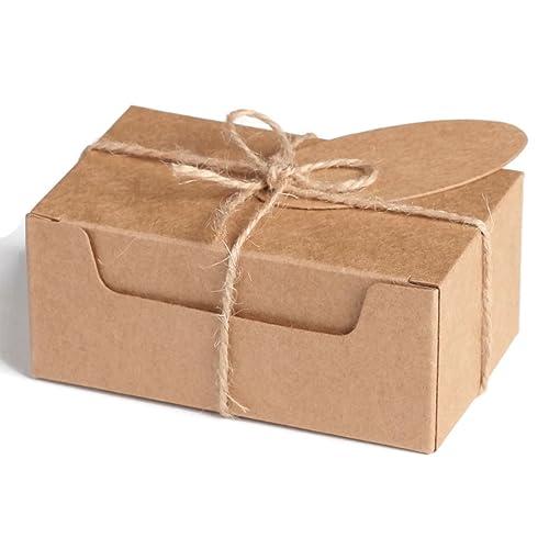 0dda00ca874 Pack of 20 Small Rectangular KRAFT NATURAL Eco GIFT BOXES