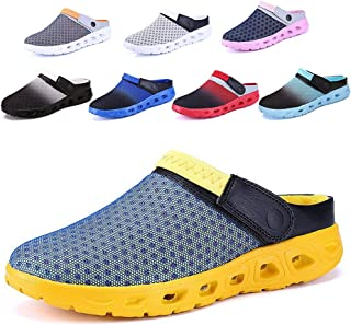 CCZZ Mens Womens Garden Clogs Shoes Summer Breathable Mesh Sandals Slippers Indoor Outdoor Slippers Quick Drying