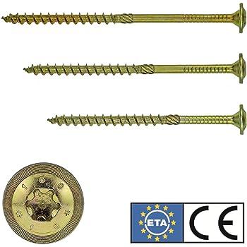 Stahl STIER Tellerkopfschraube 8x160 mm ETA Zulassung verzinkt galv Holzbauschraube 50 St/ück