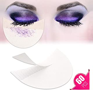 TailaiMei 60 Pcs Eyeshadow Shield for Prevent Makeup Residue, Eye Pad for Eyelash Extensions/Perming/Tinting and Lip Makeup - Lint Free Under Patches Prevent Raccoon Eyes