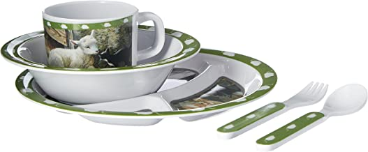 Wild أجنحة تي شيرت للأطفال 5-piece ملامين مجموعة أدوات المائدة يتميز بشعار قطط