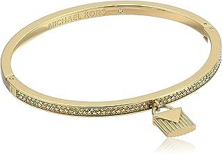 "Michael Kors ""Fashion Logo Love Gold-Tone Hinged Padlock Charm Bracelet"