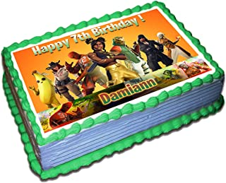 Fortnite 8 Season Personalized Cake Toppers Icing Sugar Paper 85 X 115 Inches Sheet
