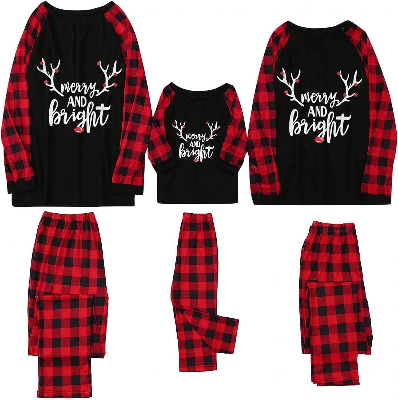 Pajamas Set for Loved Ones Lounge Cotton Sleepwear Comfy Soft Long Sleeve Pjs Set Nightwear Set