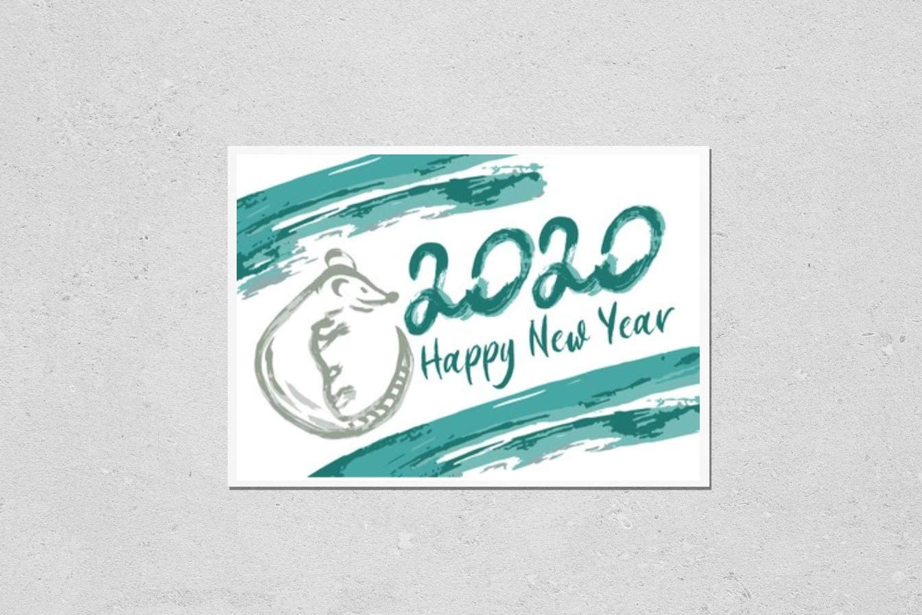 KwikMedia Poster Reproduction of Happy 2020. Jacksonville Mall Finally resale start Th Year New