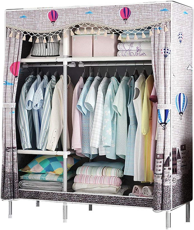 Simple wardrobe Simple wardrobe 125  170  45cm Steel Frame Storage Wardrobe (color   C)