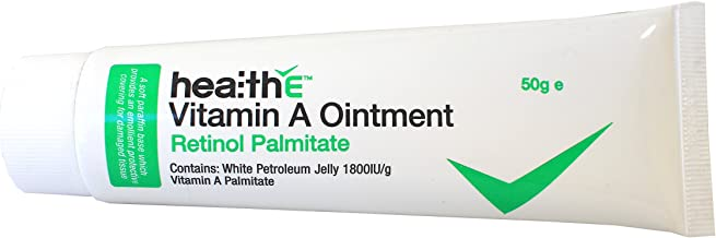healthE - Vitamin A Ointment (Retinol Palmitate) - Suitable for Healing of wounds, cuts, abrasions, burns and chafed skin (50g tube)