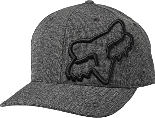Fox Racing Clouded Mens Flexfit Hats-Black/Black-Small/Medium