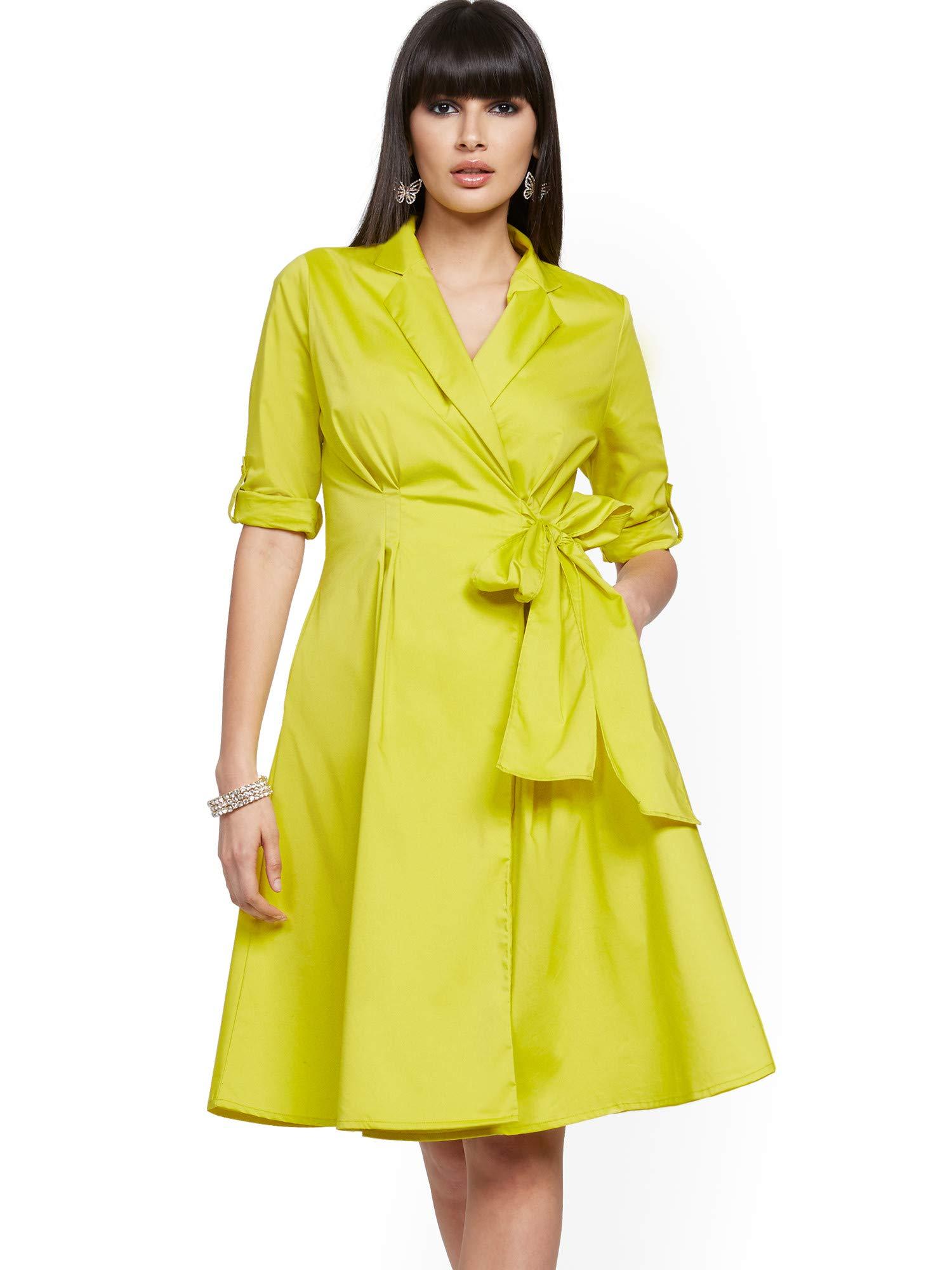 Available at Amazon: New York & Co. Women's Poplin Wrap Dress