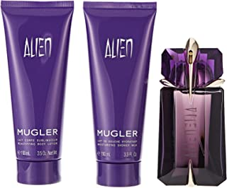 Thierry Mugler Alien Assorted Fragrances Eau De Parfum Spray, 60 ml + Body Lotion, 100 ml + Shower Milk, 100 ml Set For Women