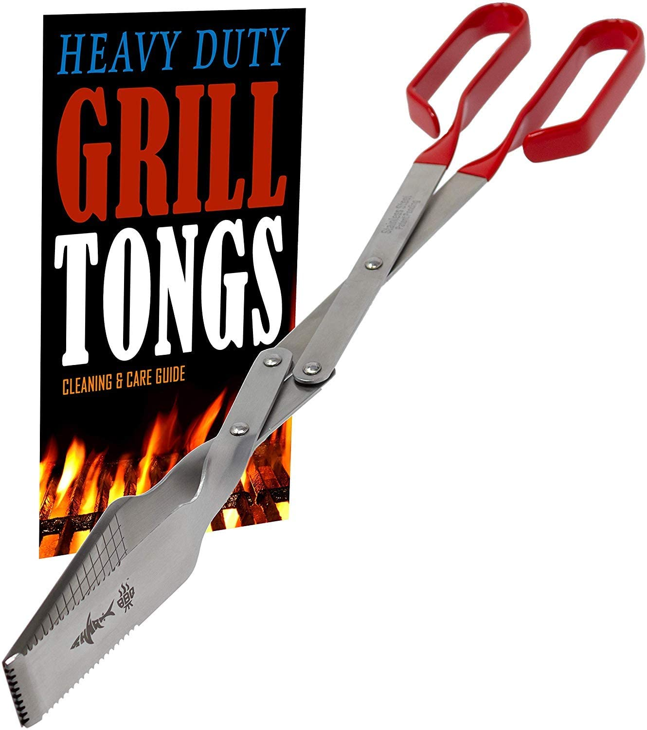Grill Tongs - Extra Long Barbecue Today's only price w Grilling Handle Red Tong L