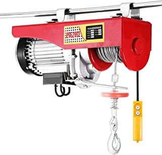 OrangeA Electric Hoist 440LBS Lift Electric Hoist 110v Mini Electric Winch Wire Cable Hoist Overhead Crane Lift with Remote Control (400LBS)