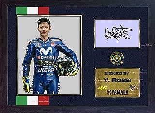 S&E DESING Valentino Rossi Signed Autograph Photo Print Superbike Framed MDF