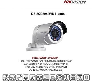 HIKVISION 4MP WDR IR Mini Bullet Network Camera, International Version, DS-2CD2042WD-I (4mm)
