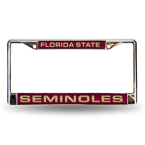 Wincraft NCAA Official Florida State University Seminoles Chrome License Plate Frame