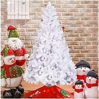 Livebest 7ft Artificial PVC Christmas Tree w/ 1000 Tips Gorgeous Faux-Pine Xmas Tree (White, 7ft)