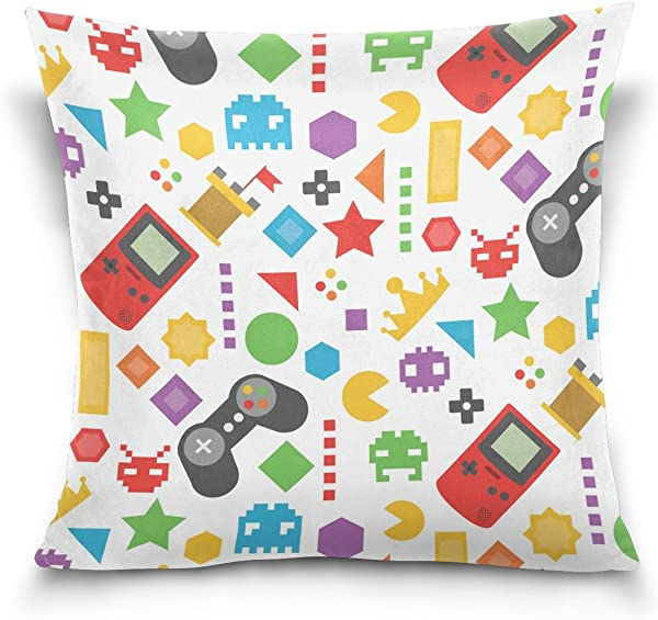 Hokkien Blue Viper Colorful Video Game In Flat Design Decorative Square Throw Pillow Case Cushion Cover For Sofa Bedroom Car Double Sided Design 18 X 18 Inch