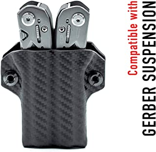 Clip & Carry Kydex Multitool Sheath for Gerber SUSPENSION - Made in USA (Multi-tool not included) EDC Multi Tool Sheath Holder Holster Cover (Carbon Fiber Black)