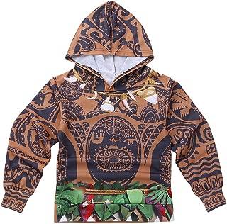 Kids Boys Tribal Halloween Costumes Cosplay Outfit Long Sleeve Zip-up Hoodie Jacket Coat