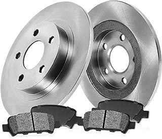 CRK14724 REAR 260 mm Premium OE 5 Lug [2] Brake Disc Rotors + [4] Metallic Brake Pads