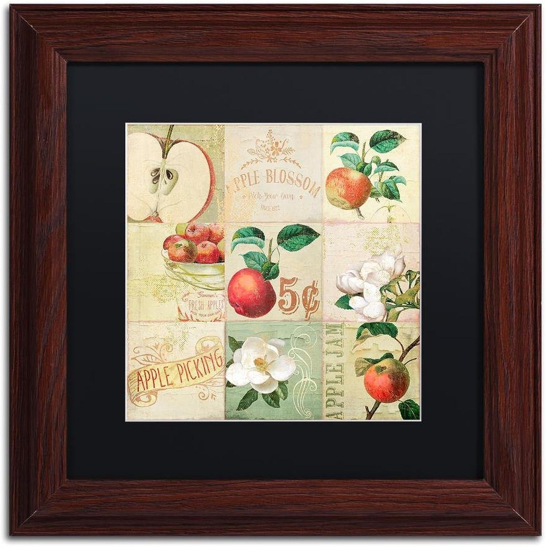 Trademark Fine Art ALI4677-W1111BMF Apple Blossoms IV by color Bakery, Black Matte, Wood Frame 11x11