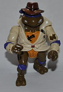 Vintage Don, the Undercover Turtle (1990) - Playmates Action Figure - TMNT Doll Toy - Loose Out of Package & Print (OOP)