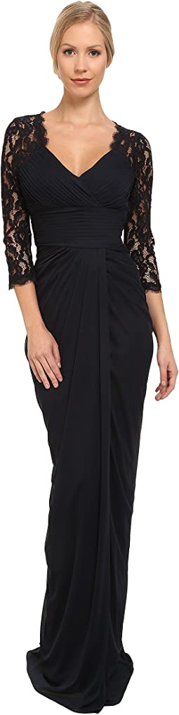 Adrianna Papell - Lace Raglan Gown