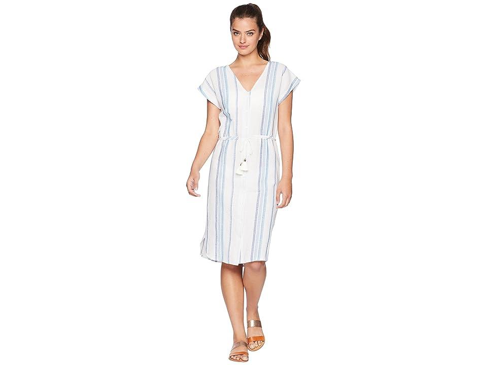 Splendid Tapestry Stripe Dress Cover-Up (Navy) Women