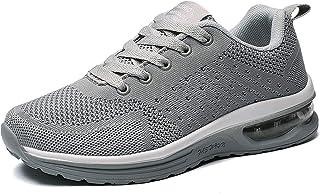 GAXmi Zapatillas Deportivas Mujer Zapatos de Malla Transpirables y Ligeros con Cordones y Cojín de Aire para Running Fitness