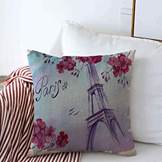 Staropho Pillow Covers Farmhouse On Watercolor Skyline Drawing Wright Paris French Blue Branch City Color Design Europe Decorative Throw Pillow Covers 20