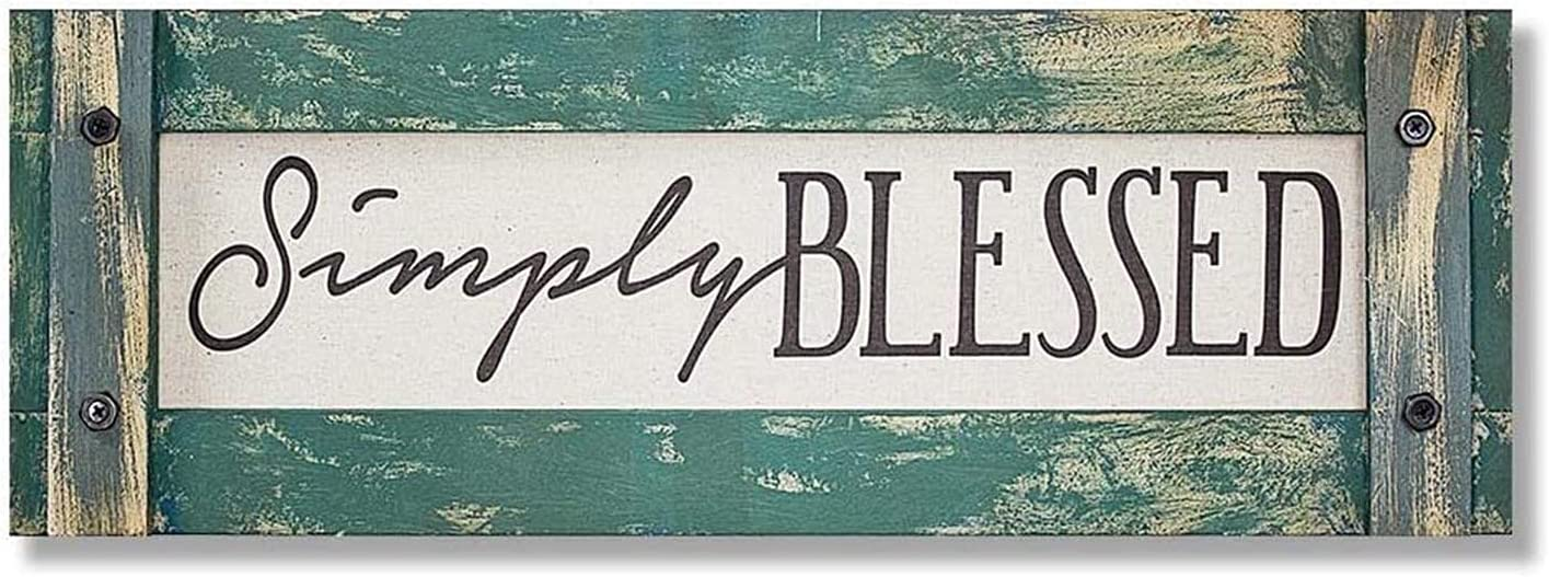 Youk-art Simply Blessed Wall Plaque Signs Farhouse Decor Rustic