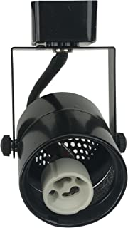 D&D Brand H System GU10 Line Voltage Track Lighting Fixture Black HA-4519-BK (No Bulb)