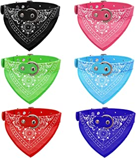 OFPUPPY Dog Bandana Collar - 6 Pack Pet Triangle Bibs Collars with Paisley Pattern for Puppy Cat