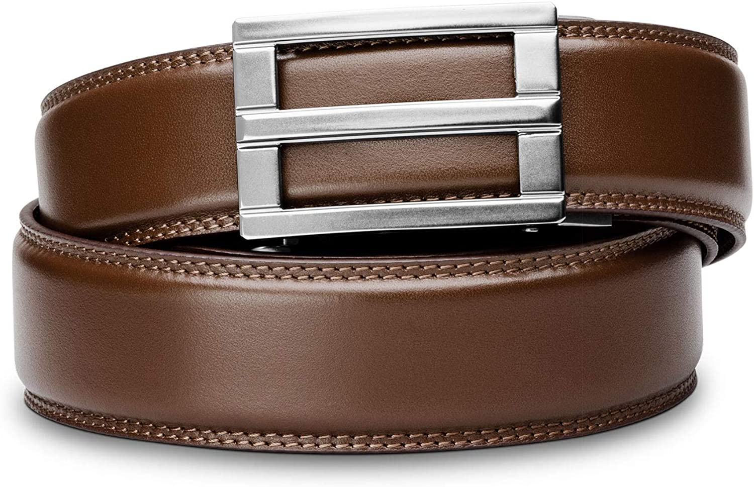 """Free Shipping New KORE Men's Full-Grain Leather Belts Portland Mall Track """"Excelâ€"""