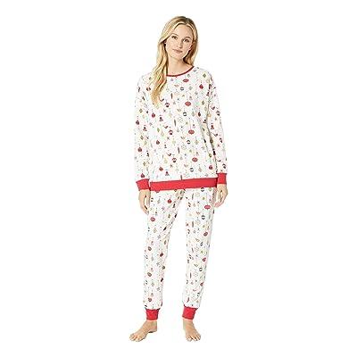 BedHead Pajamas Long Sleeve Pullover Jogger Pajama Set (Deck The Halls) Women