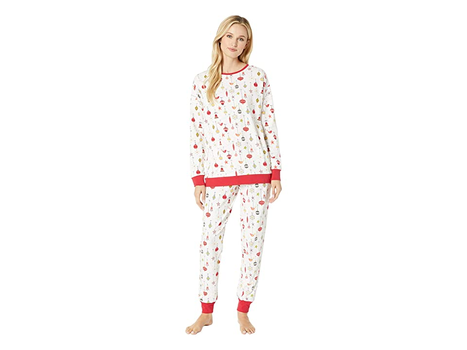BedHead Long Sleeve Pullover Jogger Pajama Set (Deck The Halls) Women
