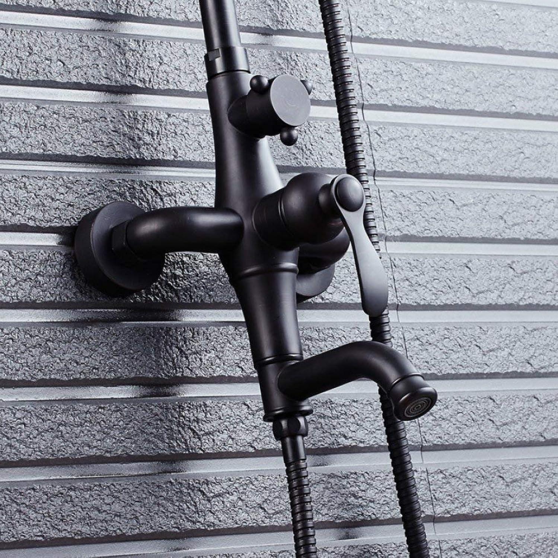 FuweiEncore Duschset Handbrause Multifunktionsdusche schwarz schwarz Bronze Dusche Badezimmer Dusche