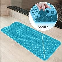 Kurtzy Anti Skid Bathroom Mat for Bathtub Shower with Suction Cups 99 cm X 40 cm, Blue
