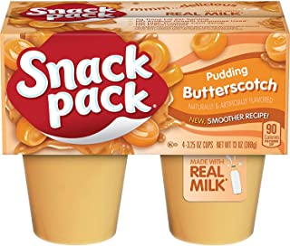 Snack Pack Butterscotch Pudding Cups, 4 Count, 12 Pack
