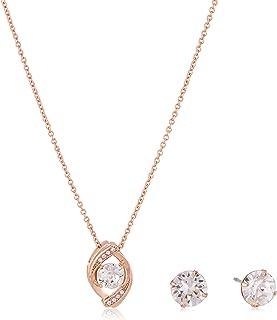 Mestige Women Glass Rose Gold Zariah Set with Swarovski Crystals