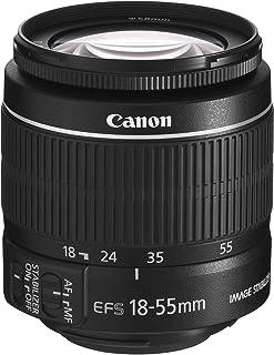 Canon EF-S 18-55mm f/3.5-5.6 IS II - Objetivo para Canon (Distancia Focal 18-55mm Apertura f/3.5-38 Zoom óptico 3Xestabilizador óptico diámetro: 58mm) Negro